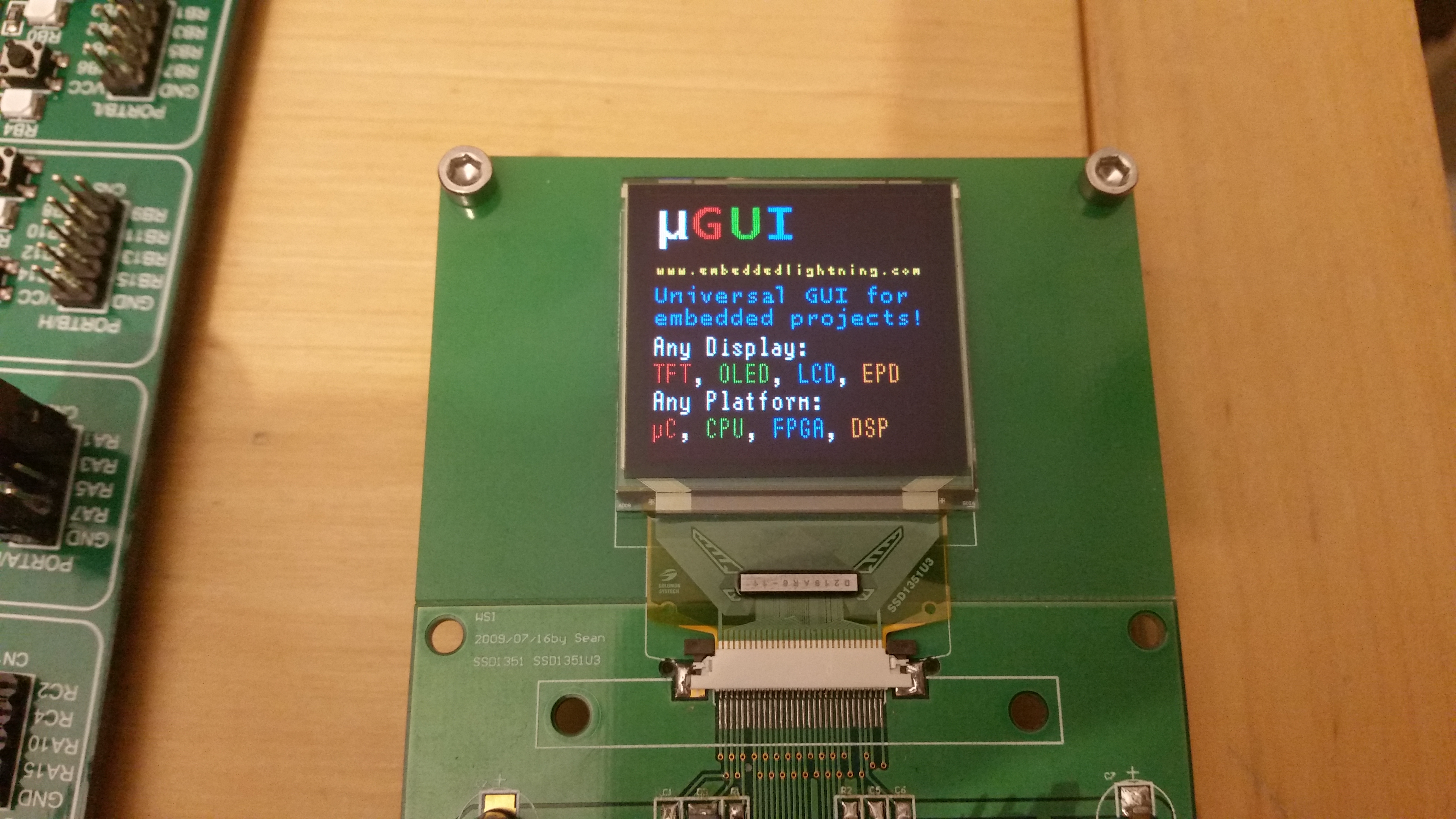 μGUI - free Open Source GUI module for embedded systems